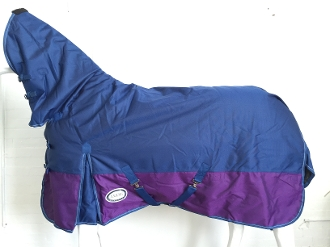 AXIOM 1800D Ballistic Nylon Navy/Purple 300g Combo Blanket