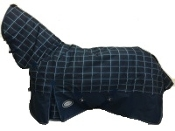 AXIOM 1200D Rip Stop Dark Blue Check 300g Combo Blanket