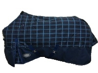 AXIOM 1200D Rip Stop Dark Blue Check 300g Regular Blanket